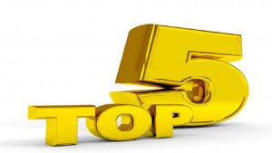 Gold TOP five. Computer generated image.